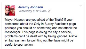 Jeremy Johnson re Surrey