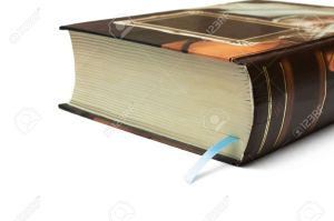 5933029-Bookmark-in-thick-book-Stock-Photo